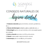 Productos naturales para la higiene dental